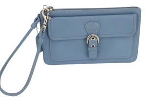 Coach Coach Leather Wristlet Phone Wallet Blue EUC