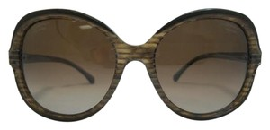 Chanel Oval Signature Taupe and Brown Glitter Polarized Sun. 5320 c.1514/S9