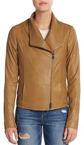 Vince Leather Lambskin Fall Beige Brown Leather Jacket