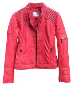 DOMA Leather Motorcycle Moto Red Leather Jacket