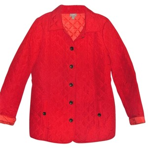 J. Jill Quilted Red Jacket