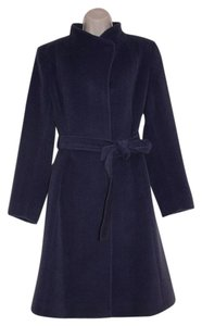 Cinzia Rocca Made In Italy Winter Wool Cashgora Blend Belted Pea Coat