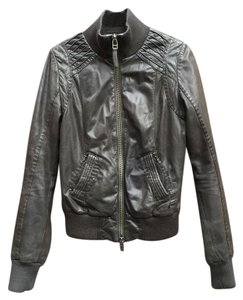 Mackage Womens Leather Black Jacket