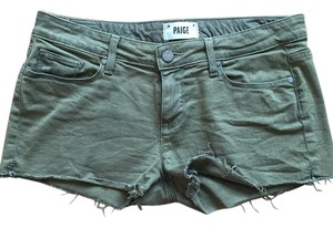Paige Denim Cut Off Shorts Army Green
