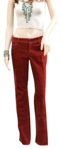 J.Crew J. Crew Jeans Corduroy Women Straight Pants Rust, Orange, Burgundy, Red