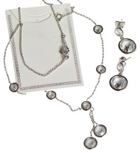 Nadri Elegant necklace and matching earrings by Nadri CZ Bezel