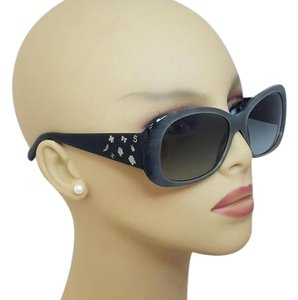 Chanel Chanel Black Gradient Gold Charms Sunglasses 5123 C845/11