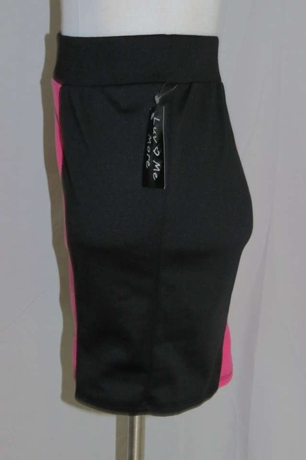 Luv Me More Mini Skirt Pink/Black