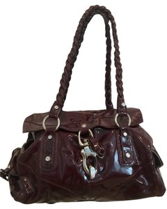 Francesco Biasia Patent Leather Fall Chic Luxury Shoulder Bag