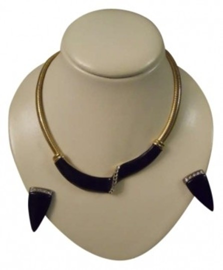Preload https://img-static.tradesy.com/item/171169/gold-enamel-and-rhinestone-necklace-and-earrings-0-0-540-540.jpg
