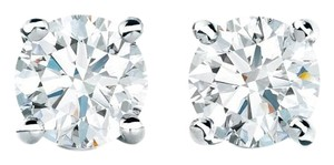 Tiffany & Co. TIFFANY 0.38 Carats TW. G-VS2/VS1 . SOLITAIRE DIAMOND EARRINGS IN PLATINUM