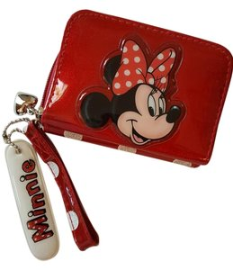 Disney Disny red polka dot Wallet