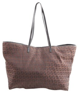 Fendi Monogram Shopper Tote in Brown