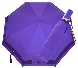 Coach Coach F63689 Regular Size Automatic Retractable Purple HC Lock Up Umbrella MSRP $85