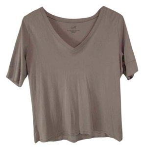 J. Jill Elbow Sleeve V-neck Top Purple