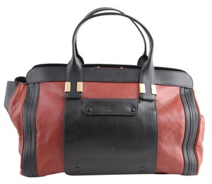 Chloé Hot Chocolate Alice Tote Red-brown/Black Travel Bag