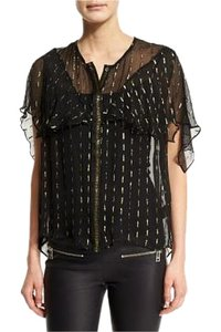 Zadig & Voltaire Top Gold and Black