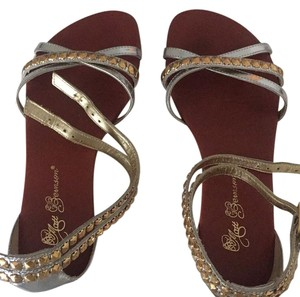 Matt Bernson silver and gold Sandals