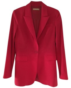 Michael Kors Crepe Red Blazer