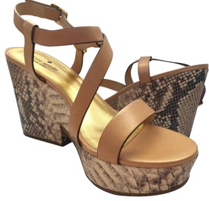 Kate Spade Natural Snake (nude/ beige) Wedges