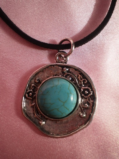 Other New Faux Turquoise, Silvertone Necklace