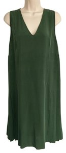 Marni 100%silk Pleats Shift Sleeveless Dress
