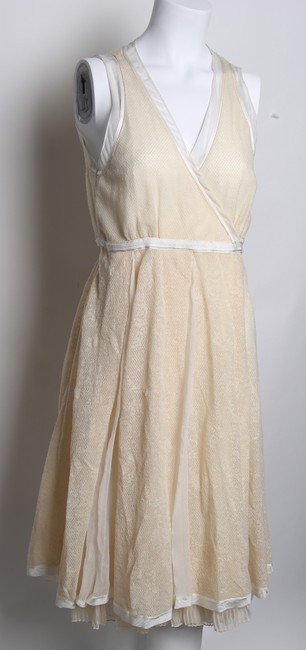 STRENESSE Creme Eggshell/Creme Above Mid-length Formal Dress Size 8 (M) STRENESSE Creme Eggshell/Creme Above Mid-length Formal Dress Size 8 (M) Image 2