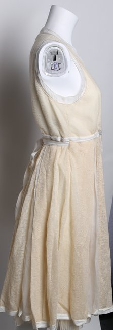 STRENESSE Creme Eggshell/Creme Above Mid-length Formal Dress Size 8 (M) STRENESSE Creme Eggshell/Creme Above Mid-length Formal Dress Size 8 (M) Image 3
