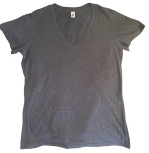 Bella V-neck T-shirt Bella+canvas Dark T Shirt Gray