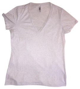 Bella V-neck Gray T Shirt Light Gray