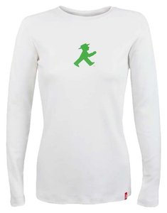 Ampelmann Berlin Longsleeve Cotton T Shirt white