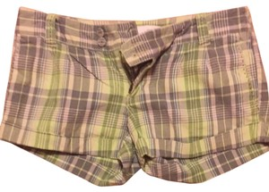 Aéropostale Shorts Plaid With Green And Grey