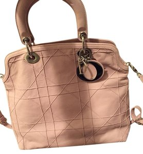 Dior Granville Leather Gold Hardware Tote in pink