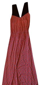 Red, white & navy blue Maxi Dress by Mudpie