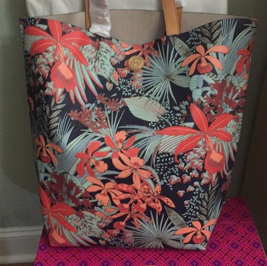 Tory Burch Purse Handbag Tropical Calathea Tote in multi