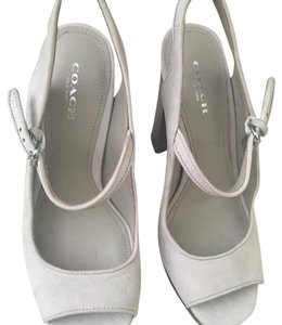 Coach Light Gray Platforms