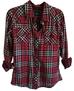 Rails Button Down Shirt Red
