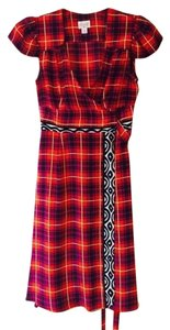 Tracy Reese short dress red Wrap Plenty on Tradesy
