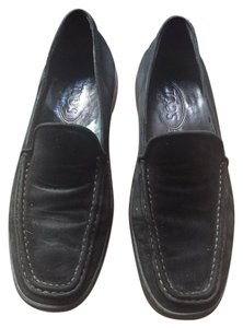Tod's Suede Loafer Black Flats