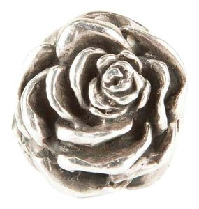King Baby Sterling Silver Large Rose Ring