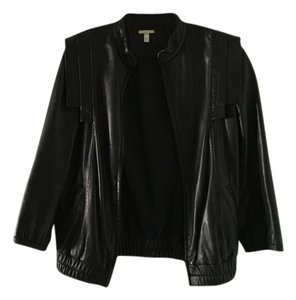 Loeffler Randall Leather Bomber Leather Jacket