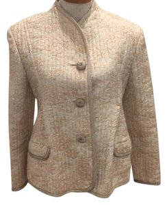 Geoffrey Beene Ivory/blush and gold Blazer