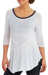 Free People Layering T Shirt SNOW COMBO