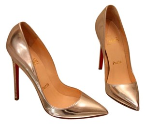 Christian Louboutin Pigalle So Kate Silver Pumps