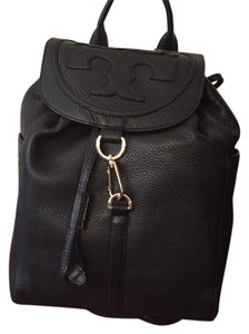 Tory Burch All T Leather black Messenger Bag
