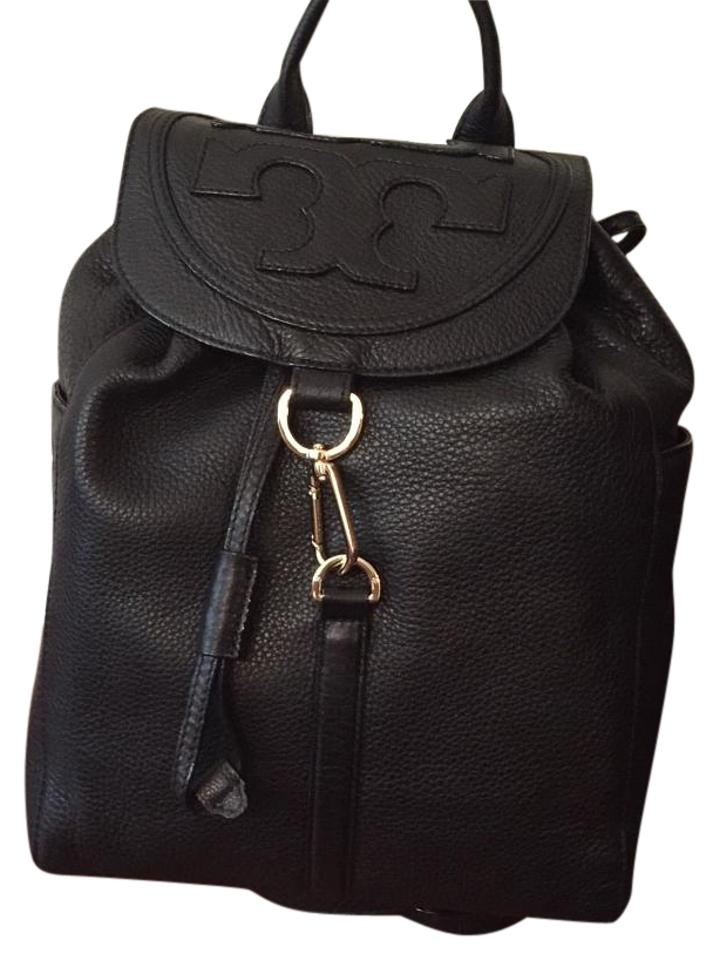 2ce7c2bb499 Tory Burch T All Large Backpack Black Leather Messenger Bag - Tradesy