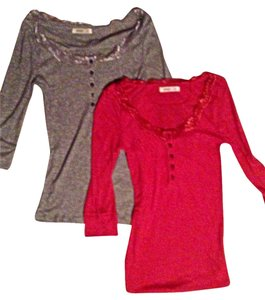 Old Navy T Shirt Grey and Coral