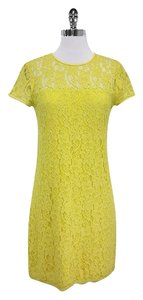Diane von Furstenberg short dress Yellow Lace Short Sleeve on Tradesy