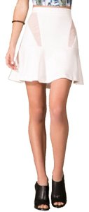 Flying Tomato Mini Skirt White