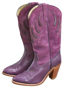 Frye Western Cowboy Suede Leather purple Boots